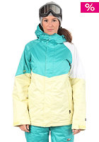 NITRO Womens Limelight Jacket lemonade/turquoise/white