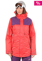 NITRO Womens Perfect Kiss Jacket coral/purple twill