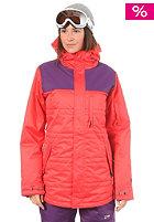 NITRO Womens Perfect Kiss Snow Jacket coral/purple twill