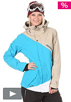 NITRO Womens Stardust Jacket 2012 cement/acid blue