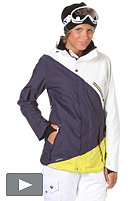 NITRO Womens Stardust Jacket 2012 white/ink/citrus