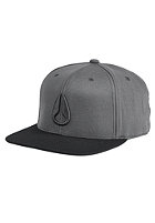 NIXON 110 Icon Snapback Cap charcoal / black
