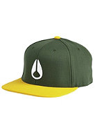 NIXON 110 Icon Snapback Cap dark green / yellow