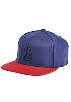 NIXON 110 Icon Snapback Cap faded navy / red