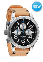 NIXON 48-20 Chrono Leather natural / black