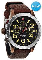 NIXON 48-20 Chrono Lthr antique copper/brown