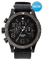 NIXON 48-20 Chrono Lthr black gator