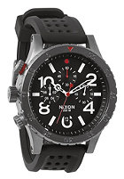NIXON 48-20 Chrono P gunmtl/blk/red