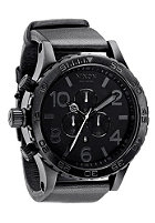 NIXON 51-30 Chrono Leather all black