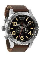 NIXON 51-30 Chrono Leather black/brown