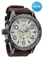 NIXON 51 30 Chrono Leather gunmetal/brown
