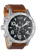 NIXON 51-30 Chrono Lthr black/saddle