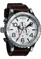 NIXON 51-30 Chrono Lthr silver/brown