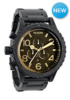 NIXON 5130 Chrono matteblack/oran