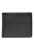 NIXON Apex Big Bill Tri-fold Zip Wallet black perf