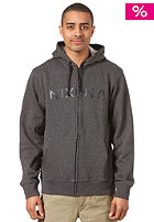 NIXON Basic Hooded Zip Sweat dark heather