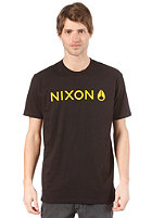 NIXON Basis S/S T-Shirt black/yellow