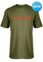 NIXON Basis S/S T-Shirt military green/red pepper