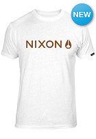 NIXON Basis S/S T-Shirt white/burgundy