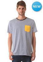 NIXON Beaumont Pocket S/S T-Shirt faded navy / yellow sun