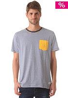 NIXON Beaumont Pocket S/S T-Shirt faded navy / yellow sun