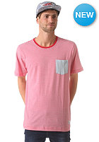 NIXON Beaumont Pocket S/S T-Shirt red / light blue