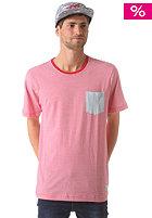 NIXON Beaumont Pocket S/S T-Shirt red / light blue
