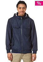 NIXON Captain Hooded Zip Jacket navy heather
