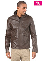 NIXON Chaos Faux Leather Jacket brown