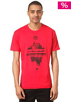 NIXON Collage S/S T-Shirt red heather