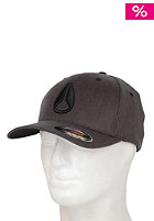 NIXON Deep Down Athlet Flexfit Cap black heather
