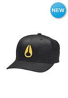 NIXON Deep Down Athletic Flexfit Cap black / yellow