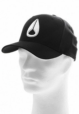 NIXON Deep Down Athletic Flexfit Cap black/white