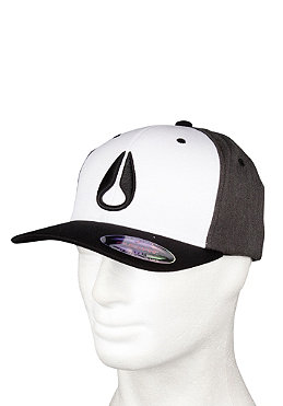 NIXON Deep Down Athletic Flexfit Cap black/white/gray