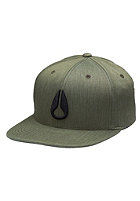 NIXON Deep Down Athletic Flexfit Cap seaweed heather/vintage org