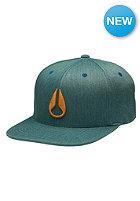 NIXON Deep Down Athletic Flexfit Cap surplus heather/black