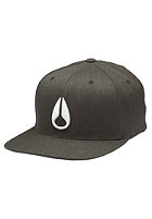 NIXON Deep Down FF Athletic Flexfit Cap black heather/white