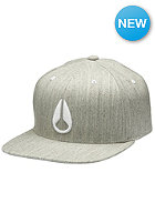 NIXON Deep Down FF Athletic Flexfit Cap heather gray/white