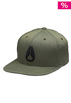 NIXON Deep Down FF Athletic Flexfit Cap seaweed heather/vintage org