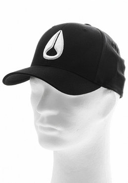 NIXON Deep Down II Flexfit Cap black/white