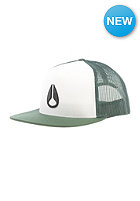 NIXON Deep Down Trucker Cap posy green