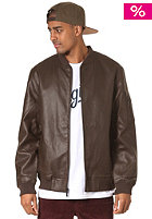 NIXON Distort Faux Leather Jacket brown