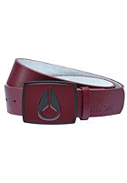 NIXON Enamel Icon Belt burgundy