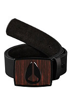 NIXON Enamel Icon Belt dark wood/black
