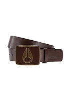 NIXON Enamel Icon Leather Belt dark brown