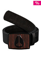 NIXON Enamel Icon Leather Belt dark wood/black