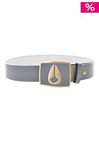 NIXON Enamel Icon Leather Belt gunmetal/gold