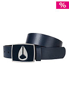 NIXON Enamel Icon Leather Belt navy