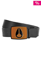 NIXON Enamel Icon Leather Belt orange/black