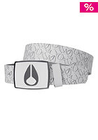 NIXON Enamel Icon Leather Belt patchwork white